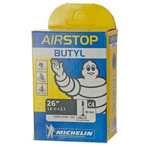 Michelin Велокамера C4 Airstop 559-54/37 (26х1.6/2.1) presta 60мм (125199)