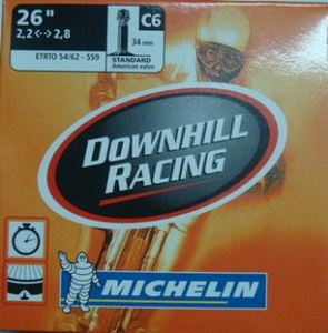 Michelin Велокамера C6 Comp DH 559-62/54 (26х2.2/2,8) авто 34мм (670686)