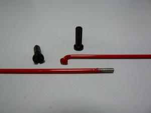 Спица 184 красные Primo с ниппелем латунным чёрн.