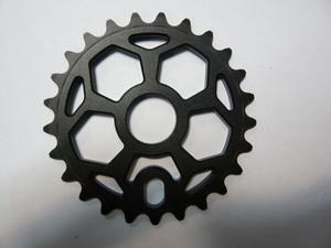 """Велосипед ВМХ звезда 1/2""""х1/8""""-25Т.6мм.фрезир.AL-7075 T6.""""пентагон""""черная MJ-ST-03"""