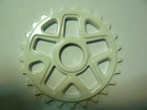 """Велосипед ВМХ звезда 1/2""""х1/8""""-25Т.6мм.фрезир.AL-6061 T6.белая MJ-ST-04"""
