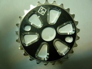 "Велосипед ВМХ звезда 1/2""х1/8""-25Т.7мм.фрезир.AL-6061 T6.черная.""VB"" VB-03"