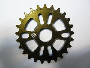 "Велосипед ВМХ звезда 1/2""х1/8""-25Т.7мм.фрезир.AL-6061 T6.коричн. металик.(золот.-болот.)""VB"" VB-ST01"