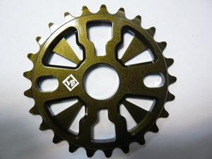 "Велосипед ВМХ звезда 1/2""х1/8""-25Т.7мм.фрезир.AL-7075.коричн. металик.(золот.-болот.)""VB"" VB-ST02"