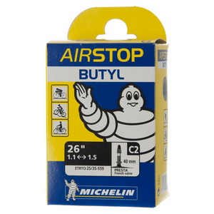 Michelin Велокамера C2 Airstop 559-35/25 (26х1.10/1.5) авто 34мм (125193)