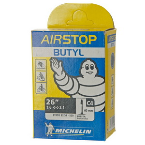 Michelin Велокамера C4 Airstop 559-54/37 (26х1.6/2.1) presta 40мм (215887)