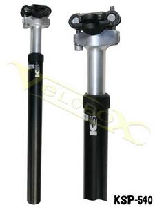 Kind Shock подседельный штырь 27.2х350mm с регулир.жёст. поджимом эластом. AL6061кован.чёрн. KSP-540