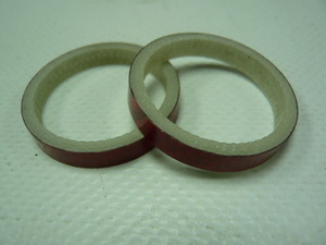"Кольцо р/к 1-1/8"" H 5мм Primeaero carbon красное"