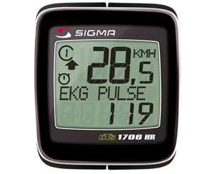 Sigma Велокомпьютер ВС 1706 HR DTS Topline+альтиметр беспроводной 20функций (01760 )