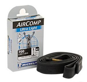 Michelin Велокамера A1 Aircomp 622-23/18 (700х18/23) Presta 40мм Ultra Light (916182)
