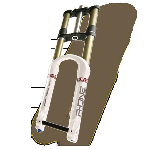 RST Вилка аморт. R-ONE R1 SUPER 180мм, пруж-масло, двухкоронка, ось 20мм, отскок 2011г.
