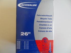"""Schwalbe Велокамера 26""""х1.50-2.50 (559-40-62) SV13 190гр.presta40mm (10425343)"""