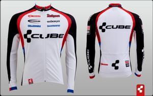 Велоформа Джерси Cube Teamline Jersey Basic Men wht l/s р.S 9103