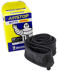 Michelin Велокамера E4 Airstop 507-47/37 (24х1.5/1.90) авто 34мм (198948)
