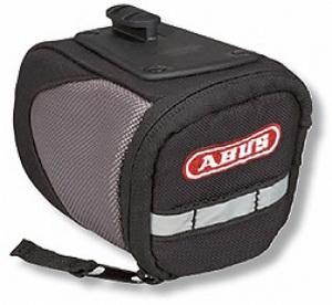 Сумка ABUS ST 130 KF BASICO под седло 0,5л быстросъёмн. 515781 чёрно-серая