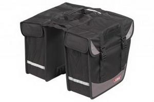 """Сумка ABUS ST 540 BASICO на багажник """"штаны"""" 2х11.5л 515729 чёрн."""