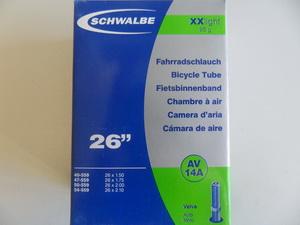 """Schwalbe Велокамера 26""""х1.50-2.10 (559-40-54) AV14A 95гр.авто40mm XXLight (10424740)"""