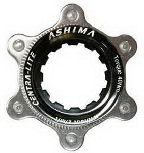 Ashima Адаптер для крепл. 6-болт.роторов на диск.втулки Center Lock Shimano чёрн. AC-02---