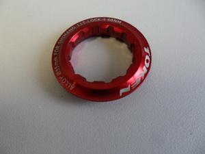 Token Гайка стопорная для кассеты на 11зуб AL-6061 красная TK041S