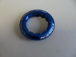 Token Гайка стопорная для кассеты на 11зуб AL-6061 синяя TK041S