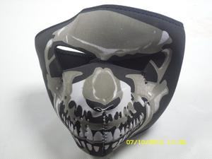 Мотоформа Маска байкера (рис.Череп, закрывает полностью лицо) МК010